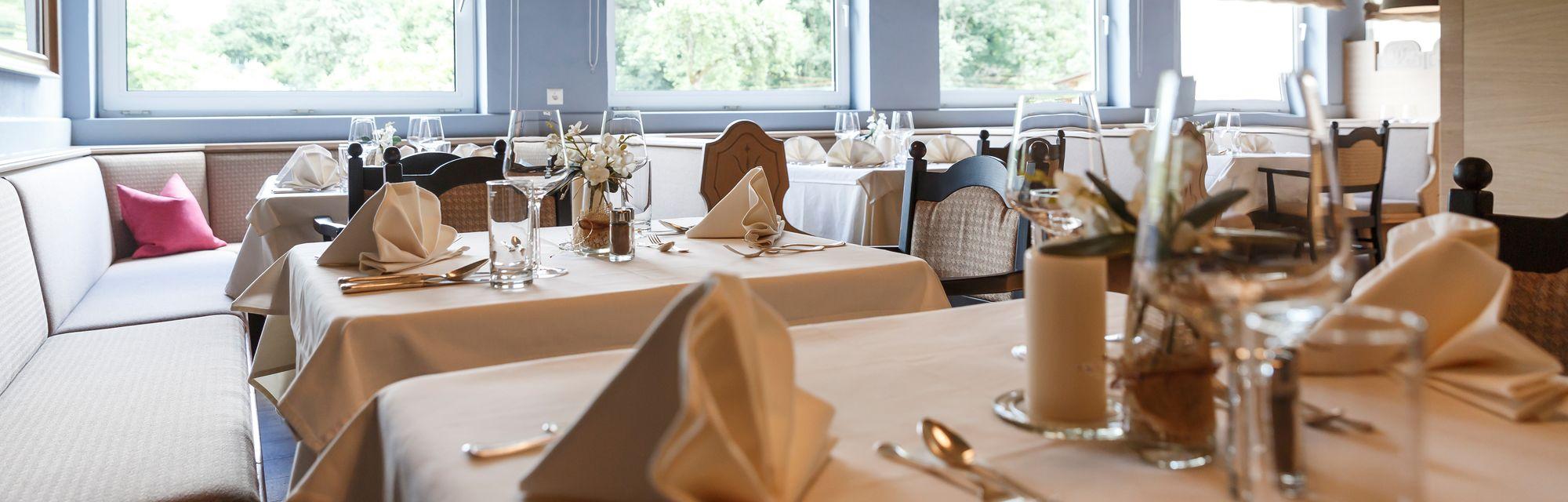 Gemütlicher Speisesaal im Hotel Streklhof in Kärnten